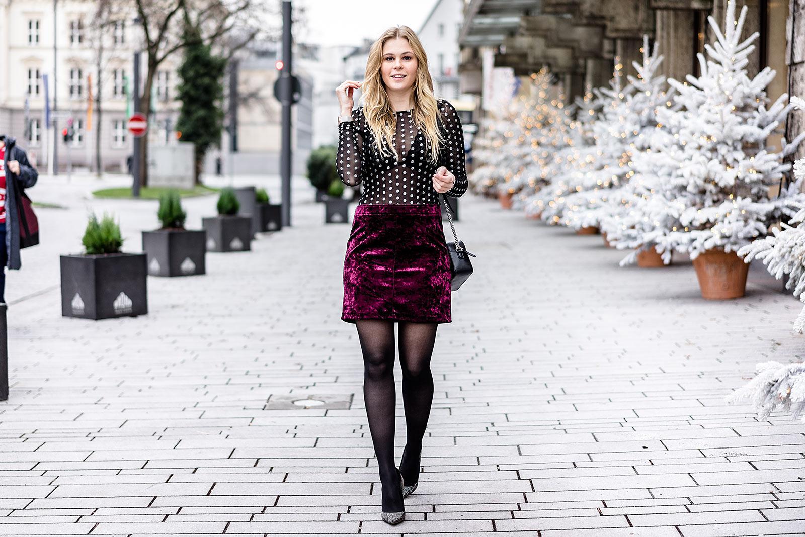 Samt Rock Outfit Silvester Modeblog Sunnyinga