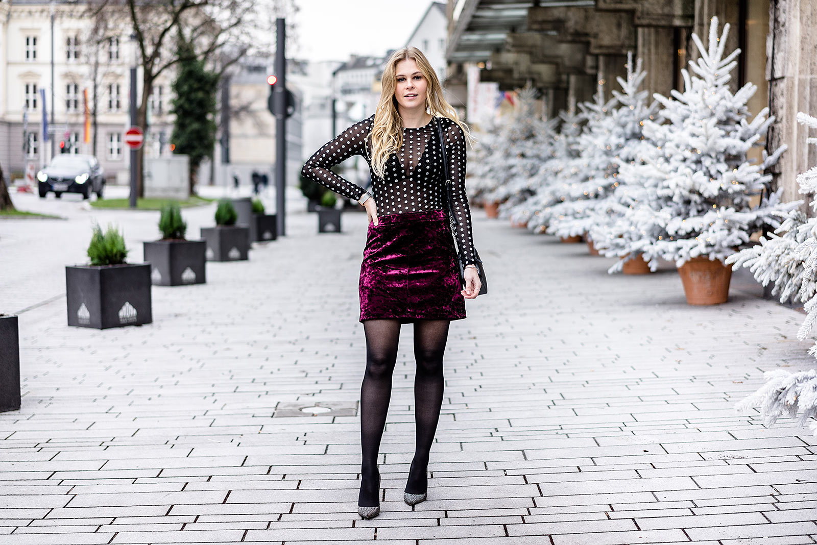 Silvester Outfit Düsseldorf Fashion Blog Sunnyinga Samt Glitzer Look