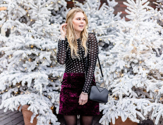 Silvester Outfit Samt Rock Fashion Blogger Sunnyinga