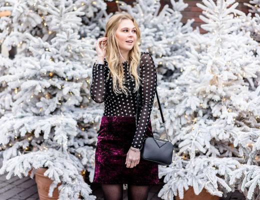 Silvester Outfit Samt Rock Fashion Blogger Sunnyinga