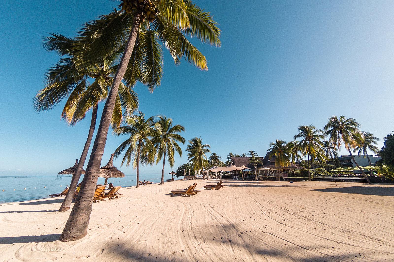 sofitel mauriitus sandstrand palmen strand travel blogger sunnyinga
