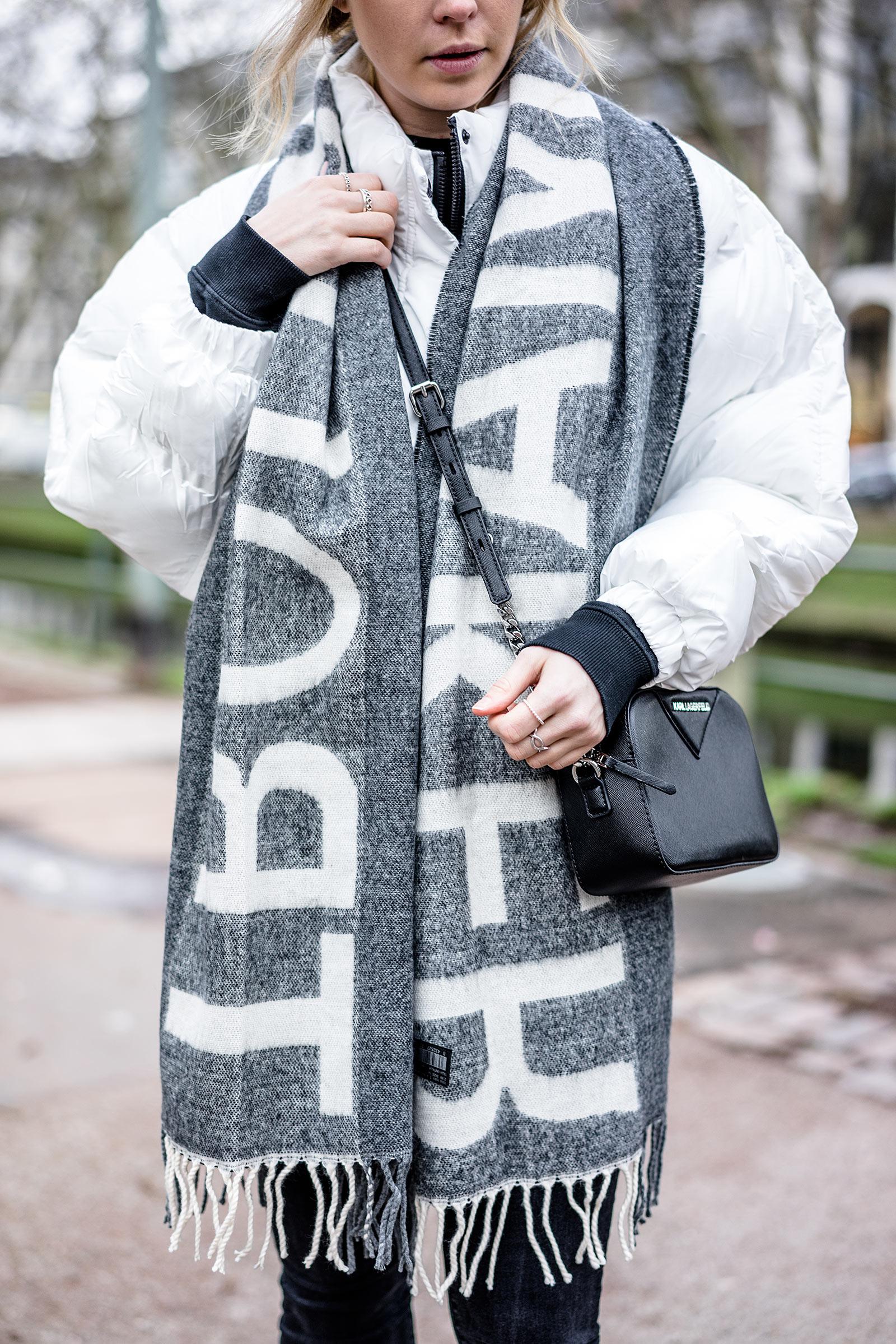 Statement Schal Mango Outfit Fashion Blogger Sunnyinga