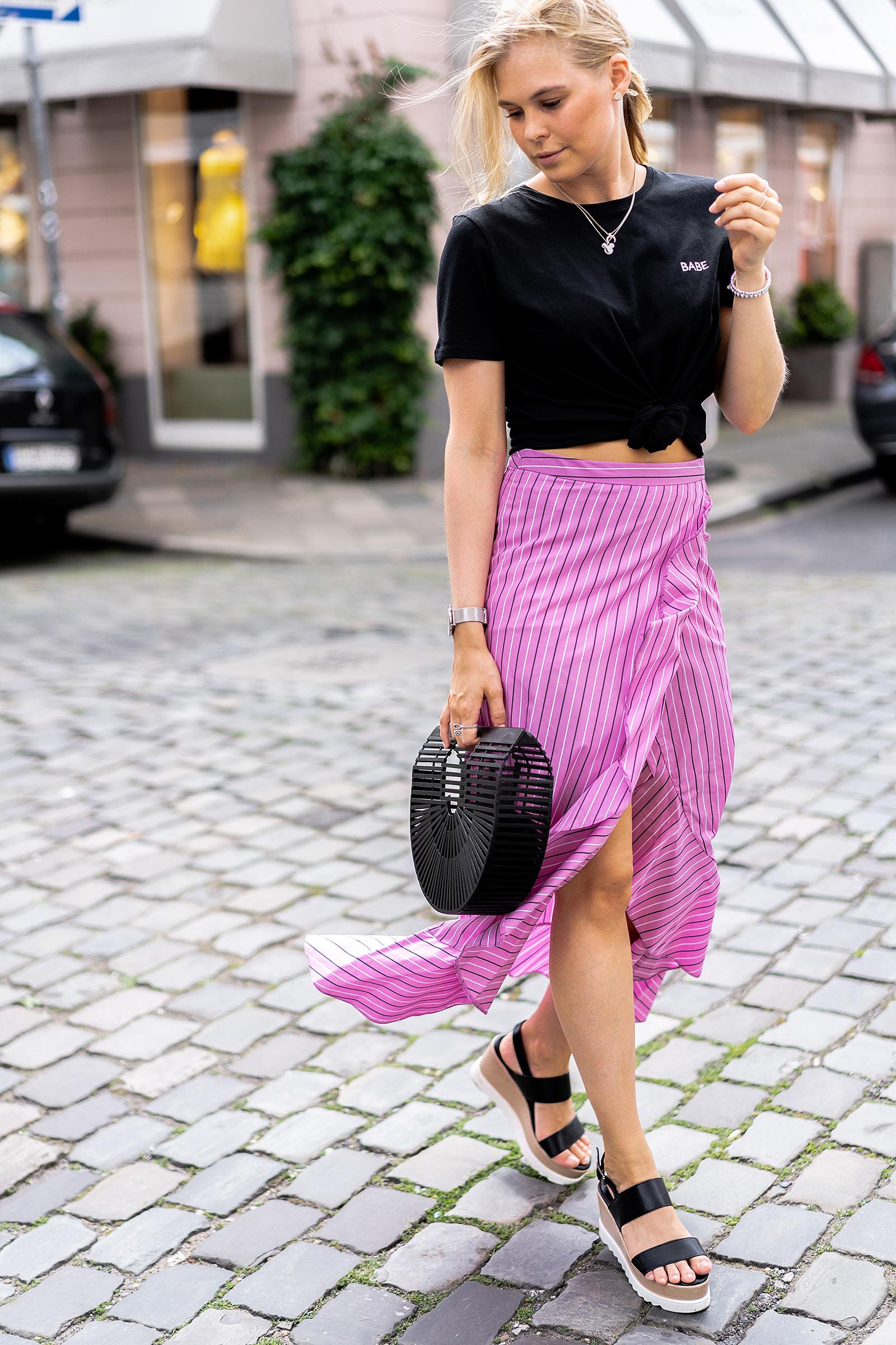 streetstyle outfit sommer midirock fashion blogger sunnyinga