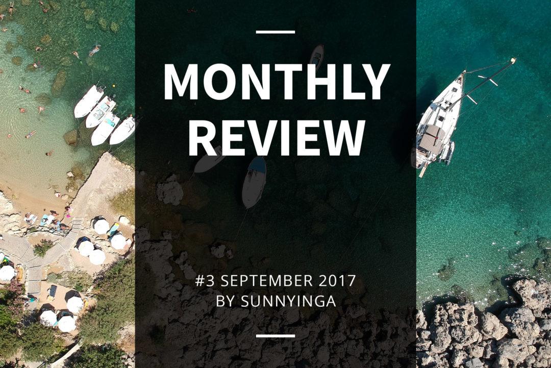 Sunnyinga Monthly Review Monatsrückblick #3 September 2017
