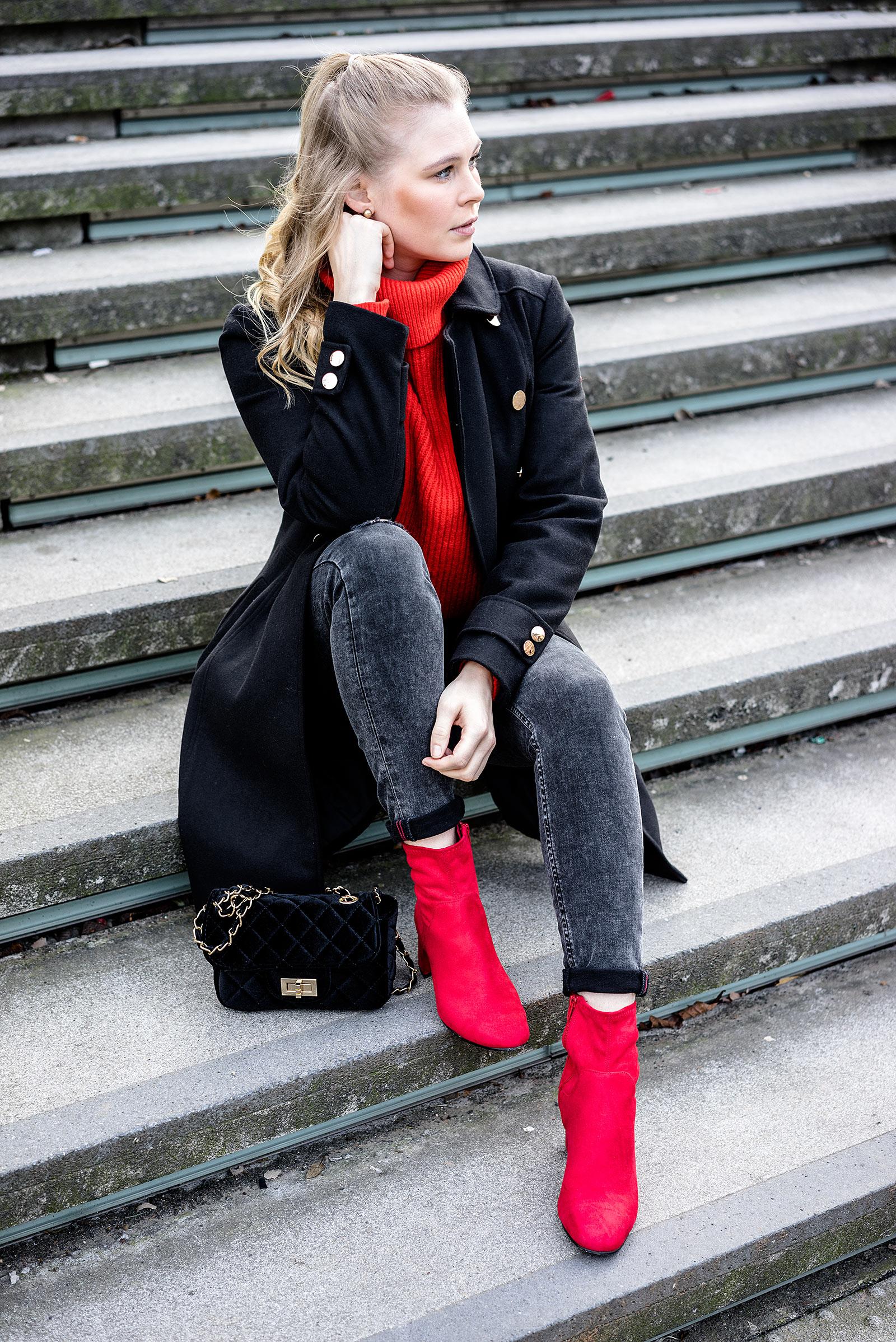 Sunnyinga ootd Outfit rote Schuhe Modeblog Düsseldorf