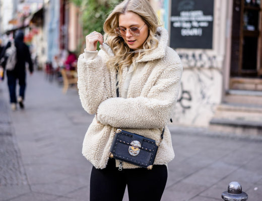 Teddy Coat Felljacke Outfit Streetstyle Berlin Fashion Blog Sunnyinga