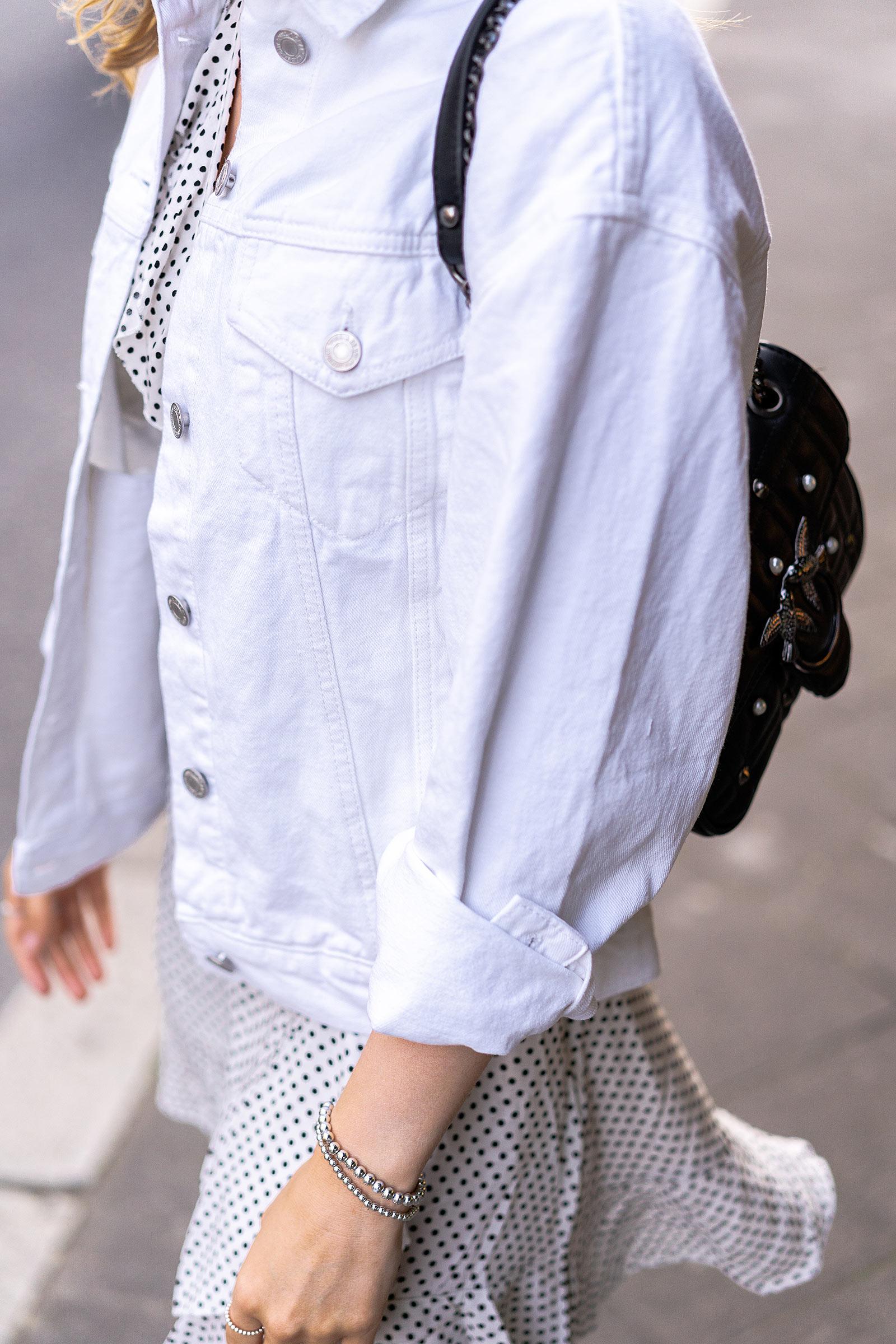 weiße jeans jacke stylen