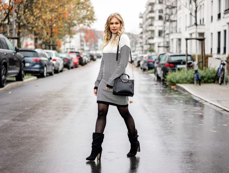 Winterkleid Outfit Winter Strickkleid Zalando Fashion Blogger Sunnyinga